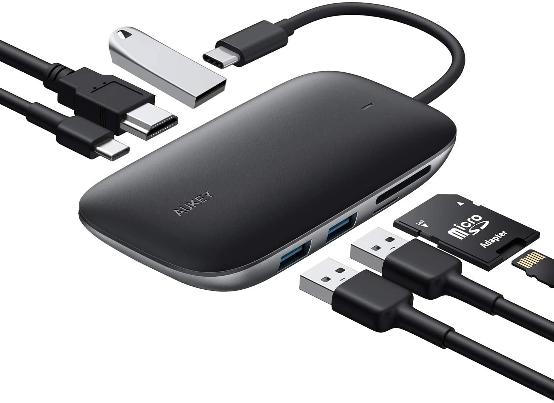 Multipuerto USB 7 en 1 perfecto para complementar tu equipo de cómputo.