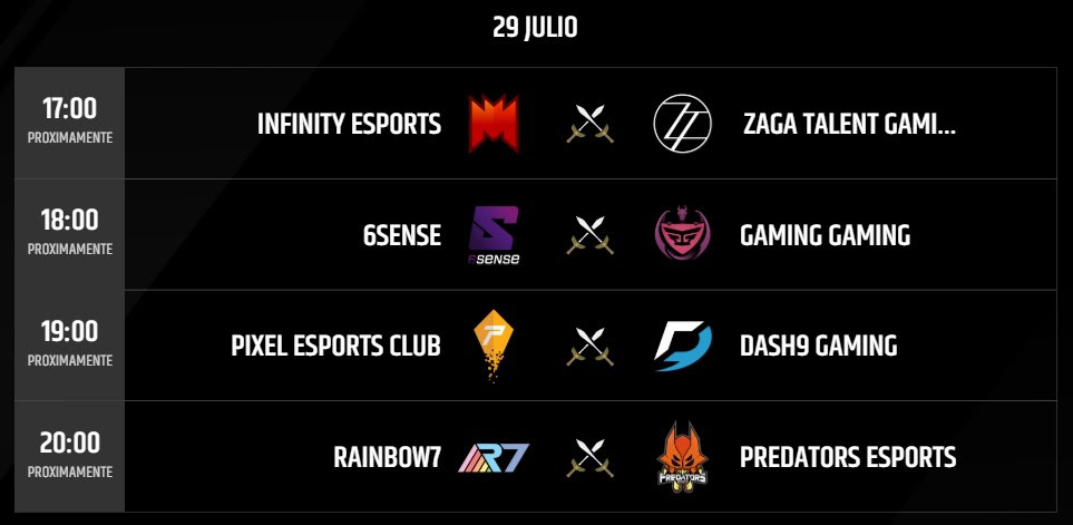 Partidas 29 julio Torneo LLN 2018 League of Legends