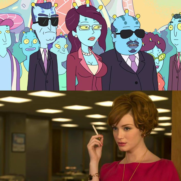 Christina Hendricks es Unidad en Rick y Morty