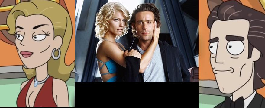 Tricia Helfer y James Callis tienen cameo en Rick y Morty