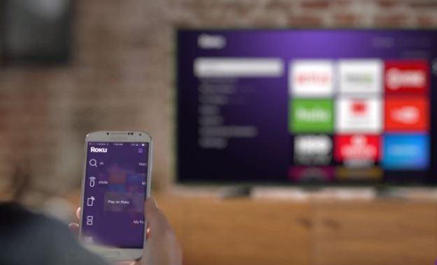 Interfaz del Roku en una TV