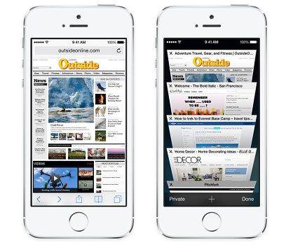 Safari 8 en iOS
