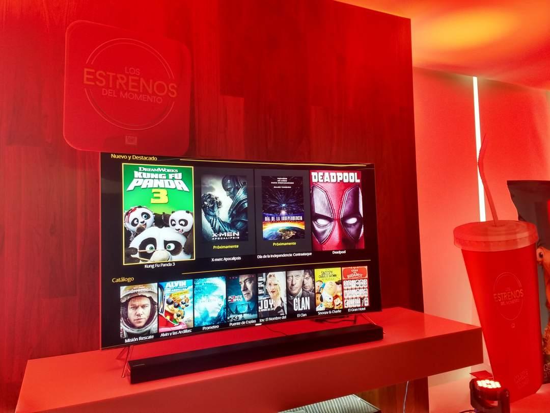 Interfaz de la aplicación en Smart TV