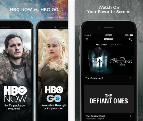 HBO Go en iOS