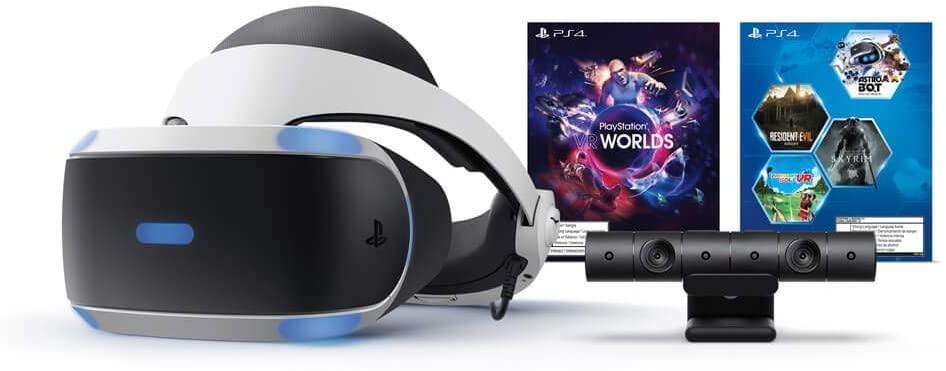 PlayStation VR con lentes, cámara y 5 juegos