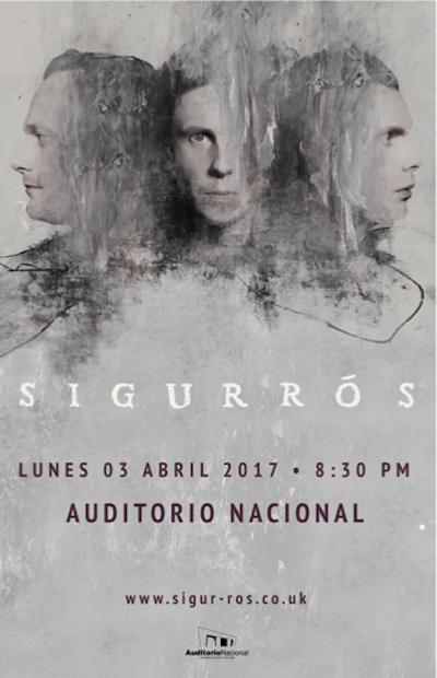 Póster oficial del concierto de Sigu Rós