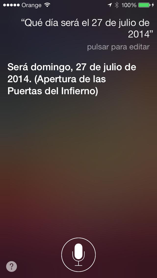 Screenshot de la respuesta de Siri que se convirtió en un gran fail