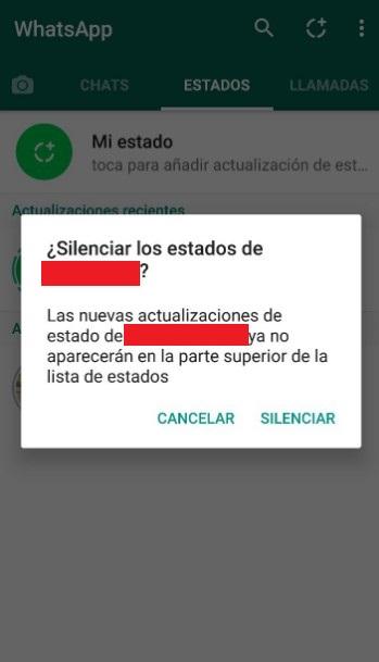 silenciar en whatsapp