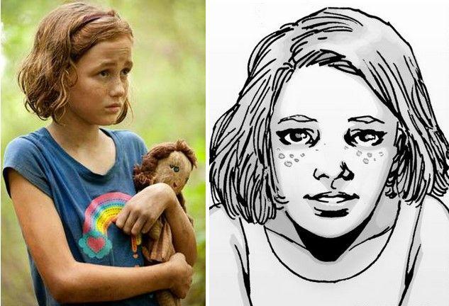 Sophia Peletier en la serie y cómic