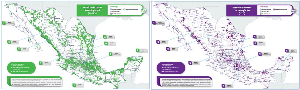Mapas de cobertura de Soriana móvil