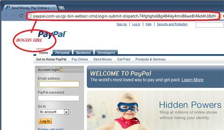 Spoofing de paypal