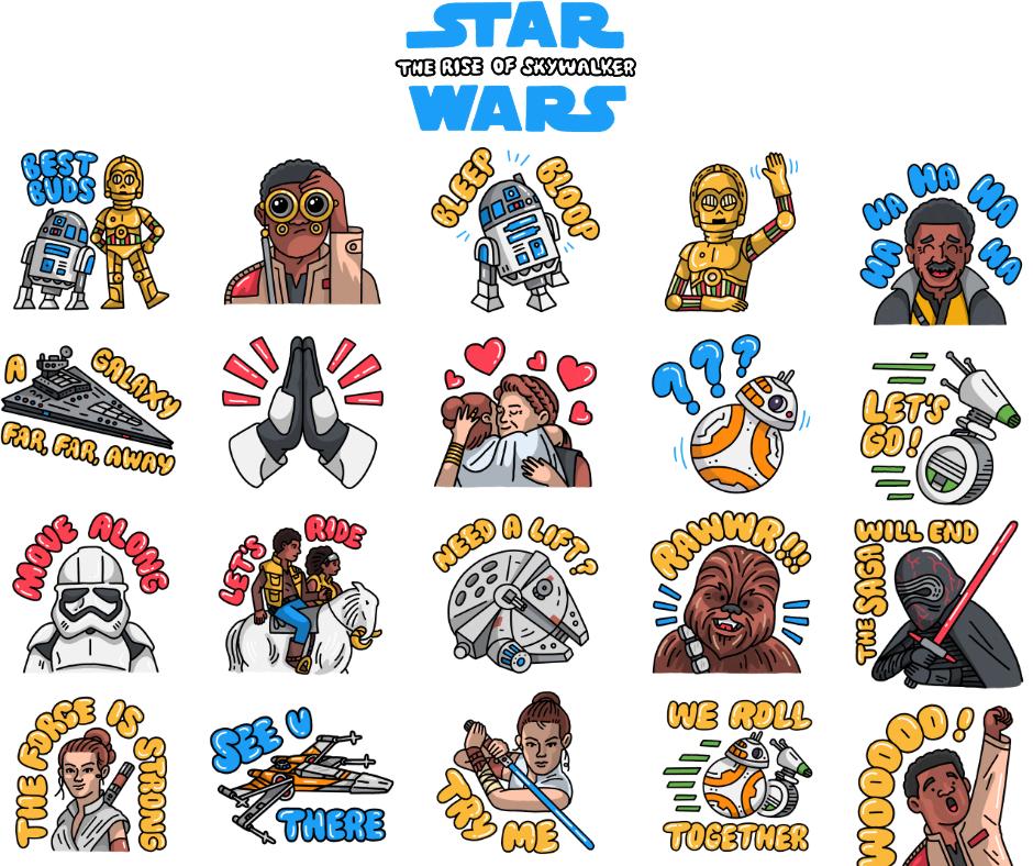 Stickers Facebook Messenger Star Wars