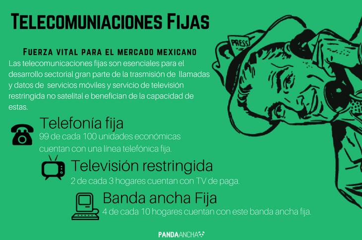 Infografía sobre telecomunicaciones fijas