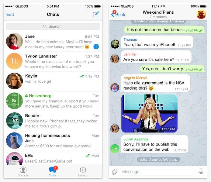 Telegram en iOS