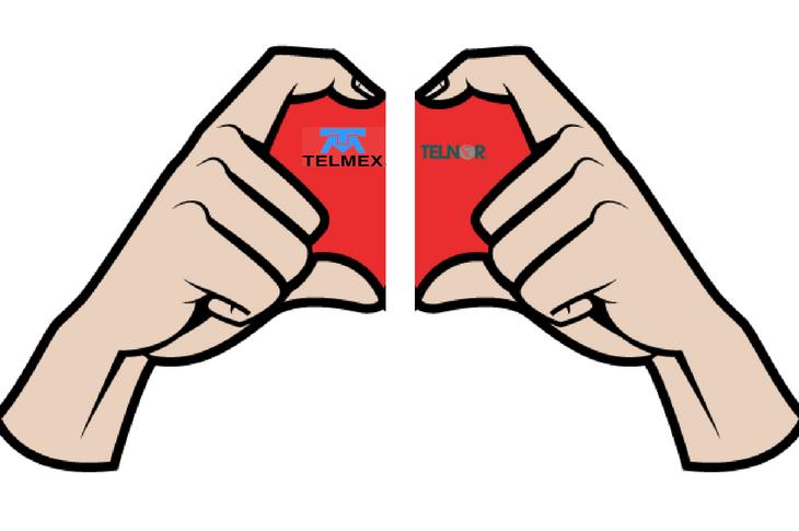División de Telmex y Telnor