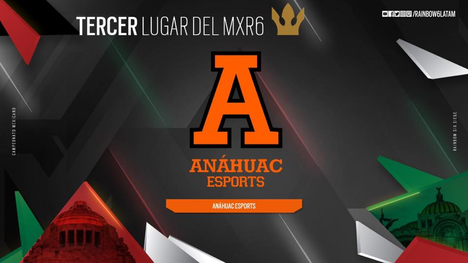 Anáhuac Esports gana tercer lugar del Campeonato Mexicano de Rainbow Six