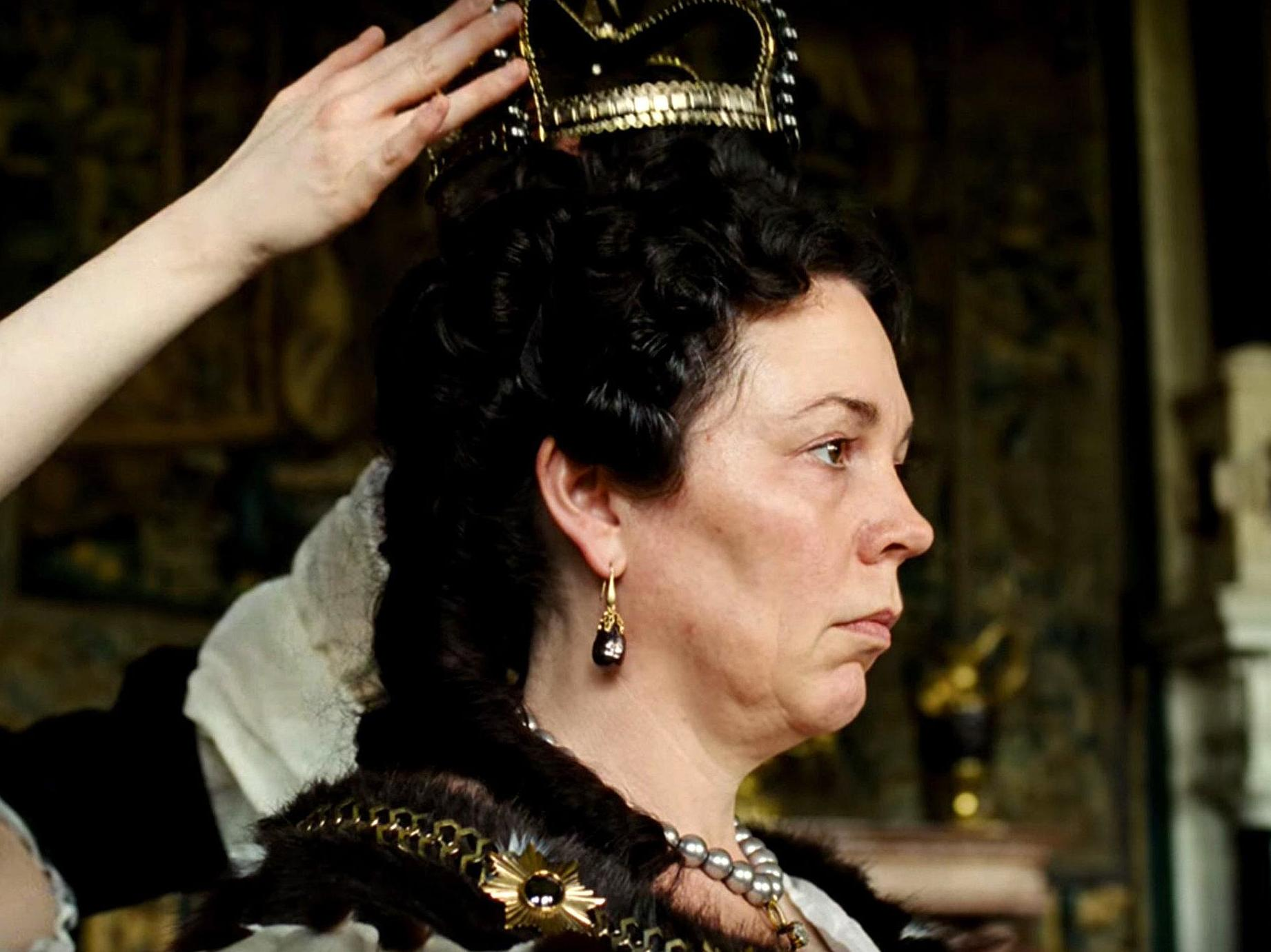 Olivia Colman en The Favourite