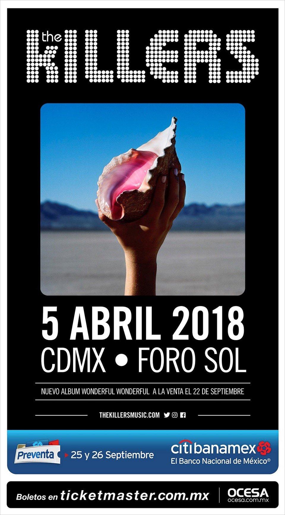 Póster oficial del concierto en México