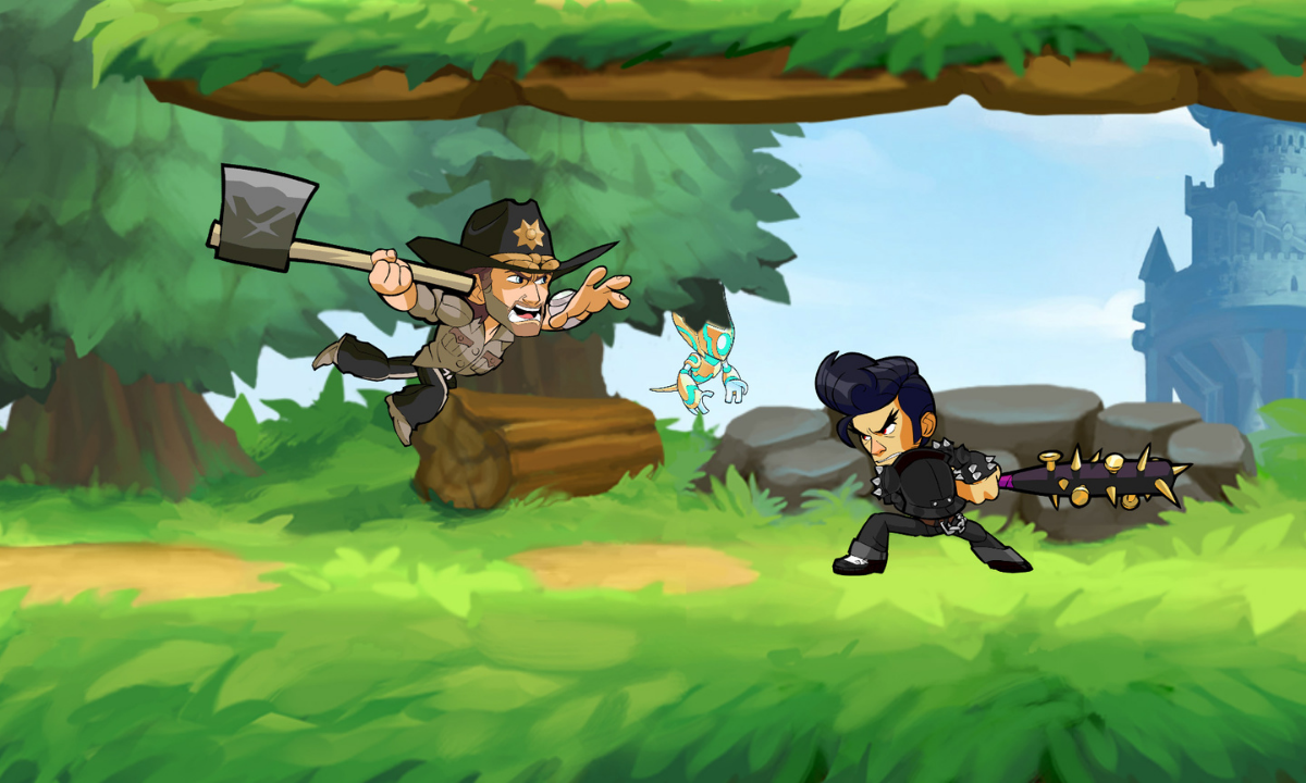 The Walking Dead en Brawlhalla | PandaAncha.mx