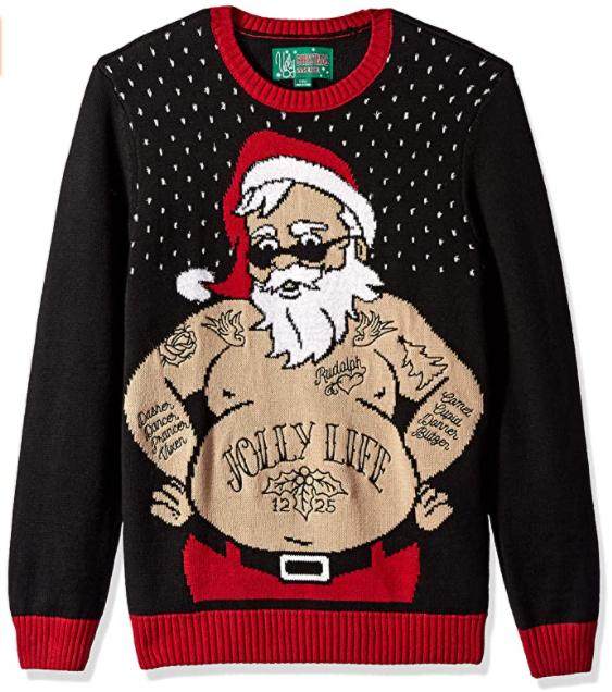 Suéter navideño de Santa para hombre en Amazon