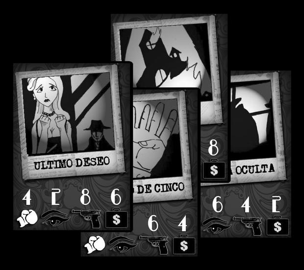 Cartas del juego Dark City