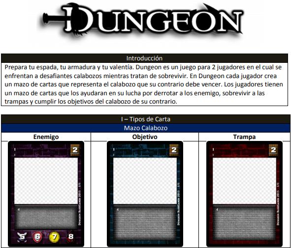 Cartas del juego Dungeon de Blox Games