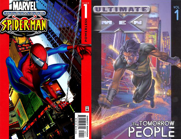 Portadas #1 de Ultimate Spider-Man y Ultimate X-Men