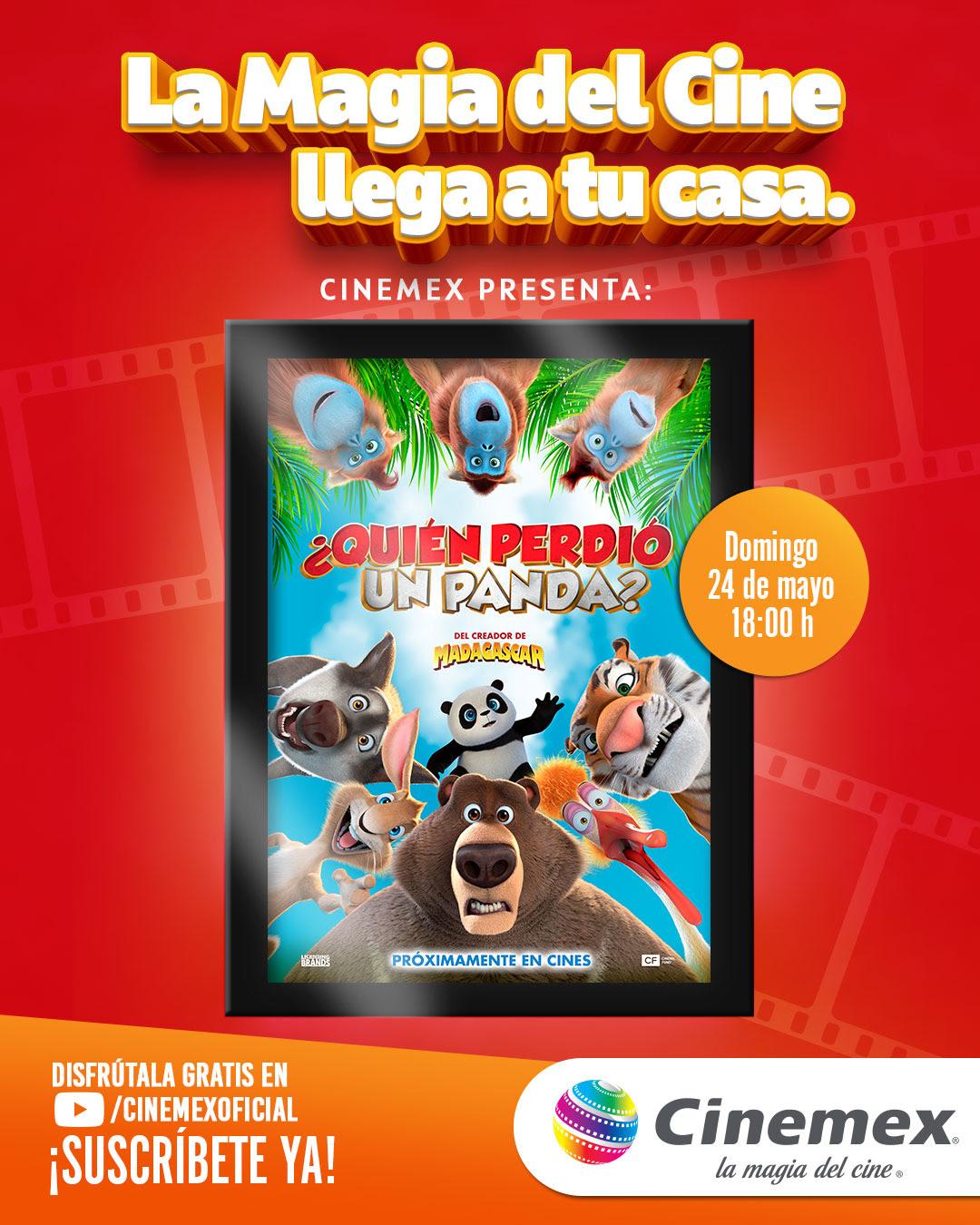 ¿Quién perdió un panda?: primera función digital gratuita de Cinemex