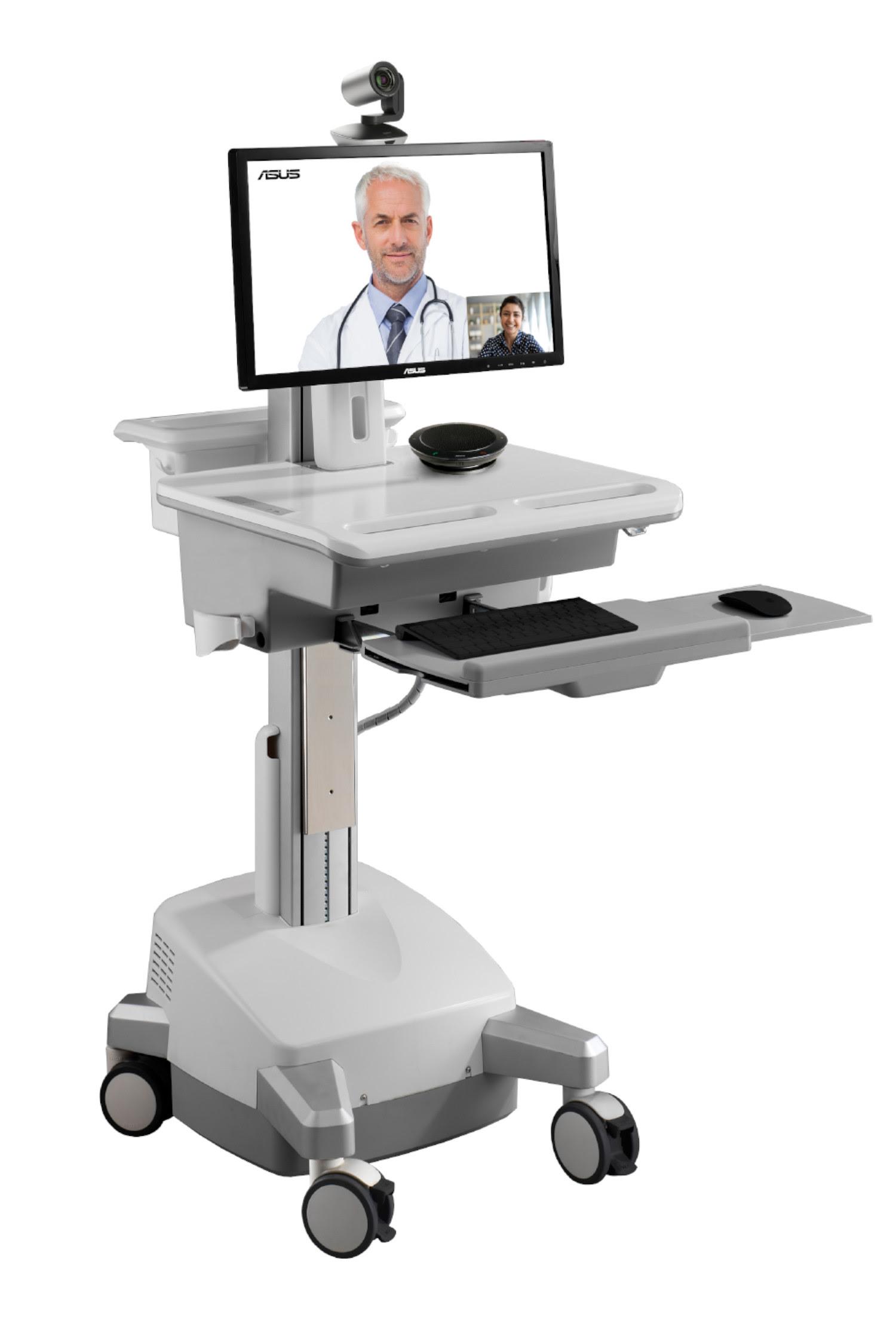 ASUS, Intel y VSee se unen para crear carros de atención médica por COVID