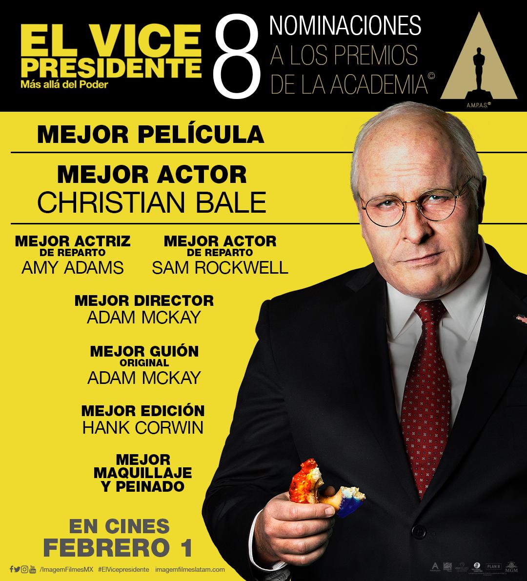 Nominaciones El Vicepresidente a Oscar 2019