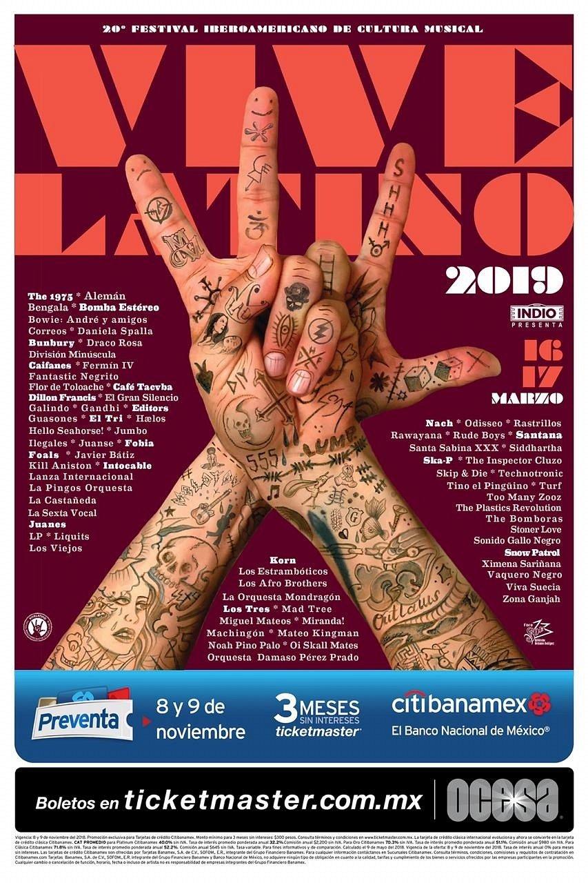 Vive Latino 2019 Cartel