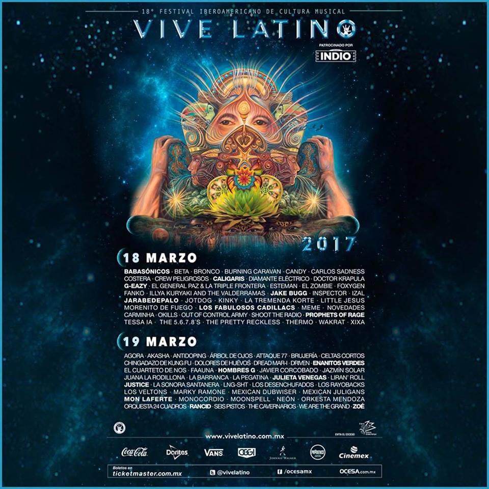 Cartel oficial del Festival Vive Latino