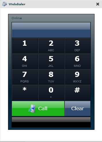 Screenshot de Web Dialer de VoxIP