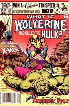 Portada de What If Wolverine Had Killed the Hulk