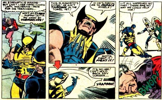Magneto controla la las garras de Wolverine