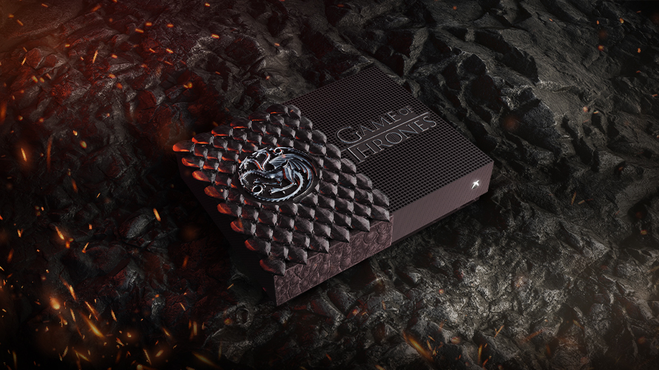 Xbox One S All-Digital edición Targaryen