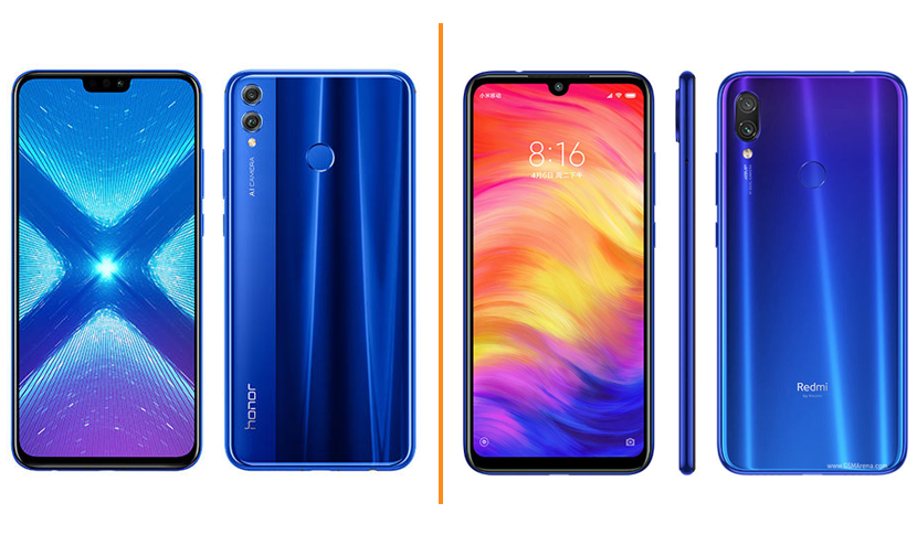 Honor 8X vs Redmi Note 7