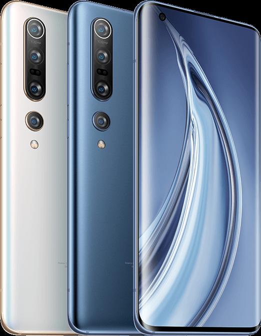 El Xiaomi Mi 10 Pro 5G está disponible en dos colores: Blanco Alpino y Gris Solsticio.