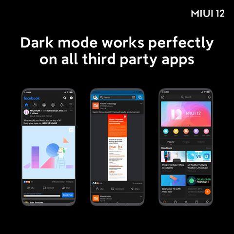 Xiaomi MIUI 12 llega en junio con nuevo modo oscuro y más innovaciones.
